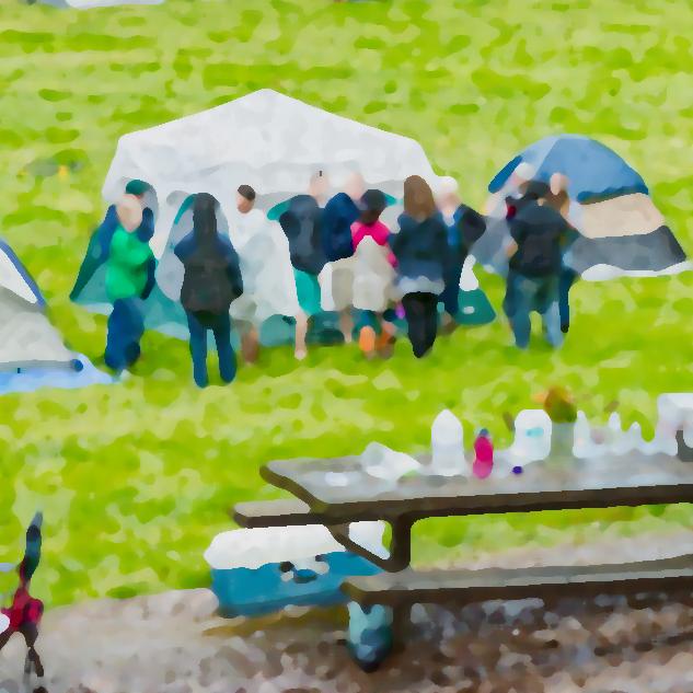 tent picnic